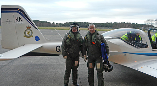 Jon Coulston & Roy MacIntyre  after landing